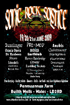 Sonic Rock Solstice flyer