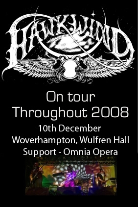 flyer for Hawkwind gig 2008